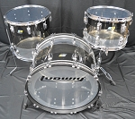 Ludwig Drum Set 45th Anniversary Limited Edition Vistalite Acrylic 3 piece - Tri-Band Black