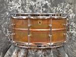 Ludwig Copper Phonic 6.5 x 14 Snare Drum in Raw Patina Finish with Tube Lugs