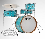 Tama Drum Set Club Jam 4 Piece Shell Pack in Aqua Blue