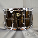 Ludwig Black Magic 8 x 14 Black Nickel Over Brass Snare Drum with Chrome Hardware