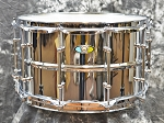 Ludwig Supralite 8 x 14 Chrome over Steel Beaded Snare Drum