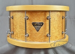 Dixon 7.5 x 14 Maple/Camphor Artisan Snare Drum with Wood Hoops