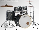 Pearl Drum Set Decade Maple 5 Piece Shell Pack in Slate Galaxy Flake