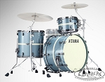 Tama LTD Edition 3 Piece Starclassic Performer B/B in Electron Blue Classic Stripe W/ Black Nickel Hardware