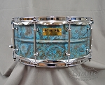 Pork Pie Snare Drum 6.5 x 14 USA Custom Patina Brass Snare Drum