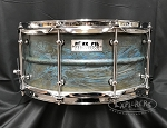 Pork Pie Snare Drum USA Custom 6.5x14 Patina Brass Shell