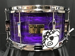 Pork Pie 7 x 13 Rosewood & Zebrawood Striped Maple Snare Drum