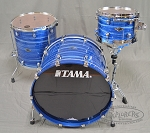 Tama Drum Set Starclassic Performer Birch/Bubinga 3 Piece Shell Pack - Lacquer Ocean Blue Ripple