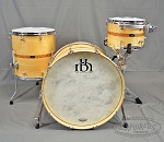 RBH Custom Monarch Series Curly Maple w/ Cherry Inlay 3 Piece Shell Pack