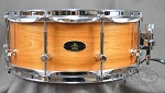 RBH Custom Snare Drum Prestige Series 5.5x14 Solid Cherry Shell w/ Maple Re-Rings