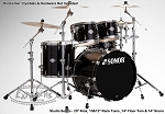 Sonor Drum Set Select Force Studio 5-Piece Shell Pack - Piano Black