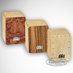 Meinl Mini Cajon Shaker, Bubinga / Natural / Zebrano Front, Three Different Volumes