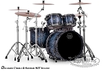 Mapex Drum Set Saturn IV 4 Piece Rock Shell Pack - Deep Water Ash Burl