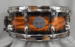 Mapex Snare Drum Saturn MH Exotic 5.5x14 Maple/Walnut Shell - Transparent Ash Burl Burst