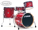 Sonor Drum Set 4 Piece Bop Shell Pack Special Addition - Red Galaxy Sparkle