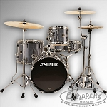 Sonor 4 Piece Safari Shell Pack - Black Galaxy Sparkle