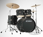 Tama Imperialstar 5 Piece Complete Drum Set w/ Hardware & Cymbals - Black Nickel