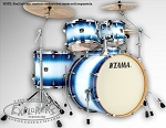 Tama Superstar Classic 5 Piece Shell Pack in Jet Blue Burst Finish