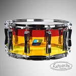 Ludwig 6.5x14 Limited Edition Vistalite Tequila Sunrise Acrylic Snare Drum