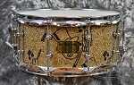 Pork Pie B20 Cymbal Glitter Top Hat Pig 6.5 x 14 Maple Snare Drum