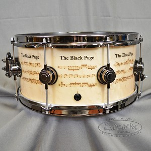 "DW Collector Series Limited Edition ""The Black Page"" Icon Snare Drum Terry Bozzio and Frank Zappa #82 of 250"