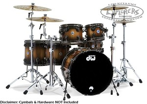DW Drum Set Limited Edition 6 Piece Exotic Pure Tasmanian Timber Shell Pack - #6 of 200
