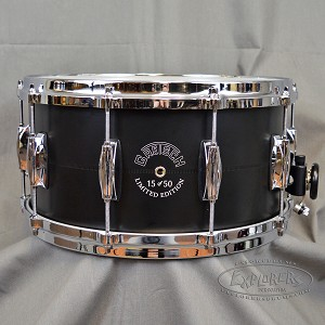 Gretsch Limited Edition 14x7 3mm Aluminum Snare Drum in Black #15 of 50