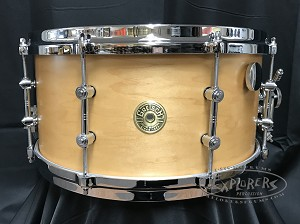 Gretsch Snare Drum USA Custom 7x14 Round Badge Exclusive Satin Millennium Maple Shell