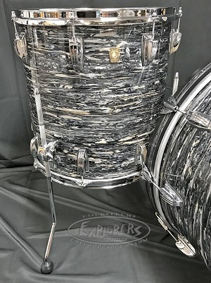 Ludwig Drum Set Classic Maple Fab 22 4 Piece Shell Pack in Vintage Black Oyster