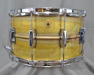 Ludwig Snare Drum 8x14 Raw Brass Shell