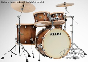 Tama Drum Set S.L.P. Studio Maple 4 Piece Shell Pack in Gloss Sienna Finish