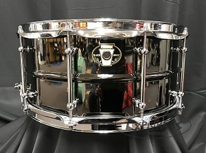 Ludwig Snare Drum Black Magic 6.5 x 14 Black Nickel Over Brass w/ Chrome Hardware