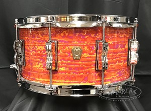 Ludwig Snare Drum 6.5x14 Classic Maple 7 Ply Shell in MOD Orange