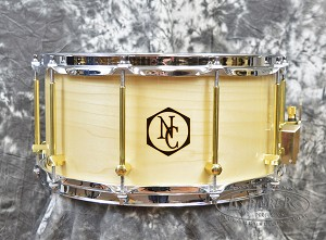 "Noble & Cooley 7"" x 14"" Tulip Wood Clear Gloss Snare Drum"