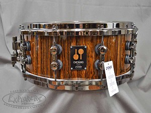 Sonor Snare Drum One Of A Kind 6x14 21 Ply Bocote Wood - Black Chrome Hardware