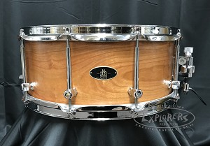 RBH Custom Prestige Snare Drum 6x14 Solid Cherry Shell w/ Maple Re-Rings
