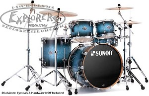 Sonor Drum Set Select Force Stage 3 5-Piece Shell Pack - Blue Galaxy Sparkle