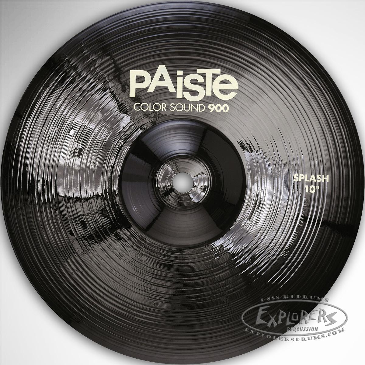 paiste 900 series color sound 10 splash cymbal black. Black Bedroom Furniture Sets. Home Design Ideas