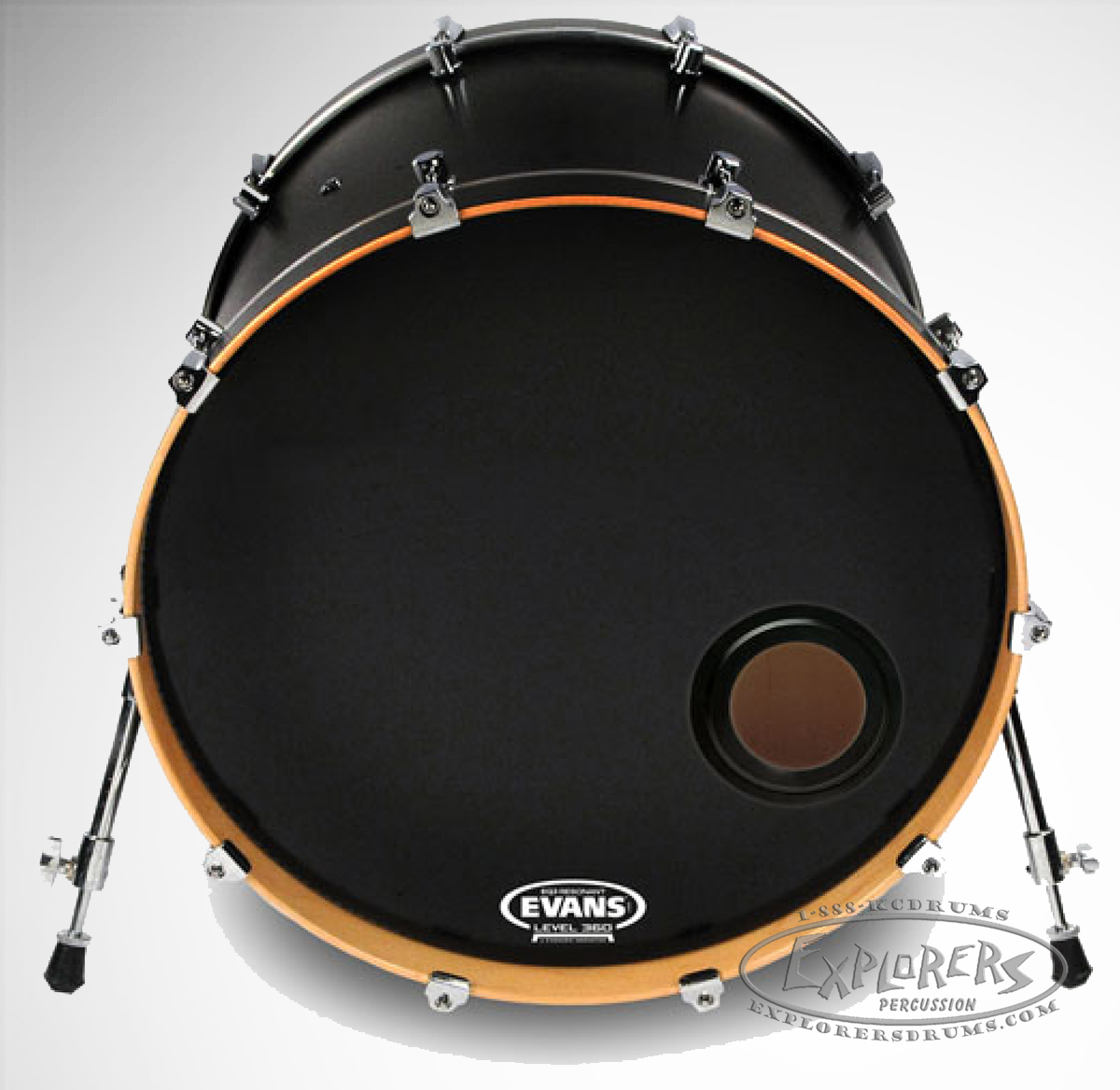 evans emad resonant frosted single ply bass drum head. Black Bedroom Furniture Sets. Home Design Ideas
