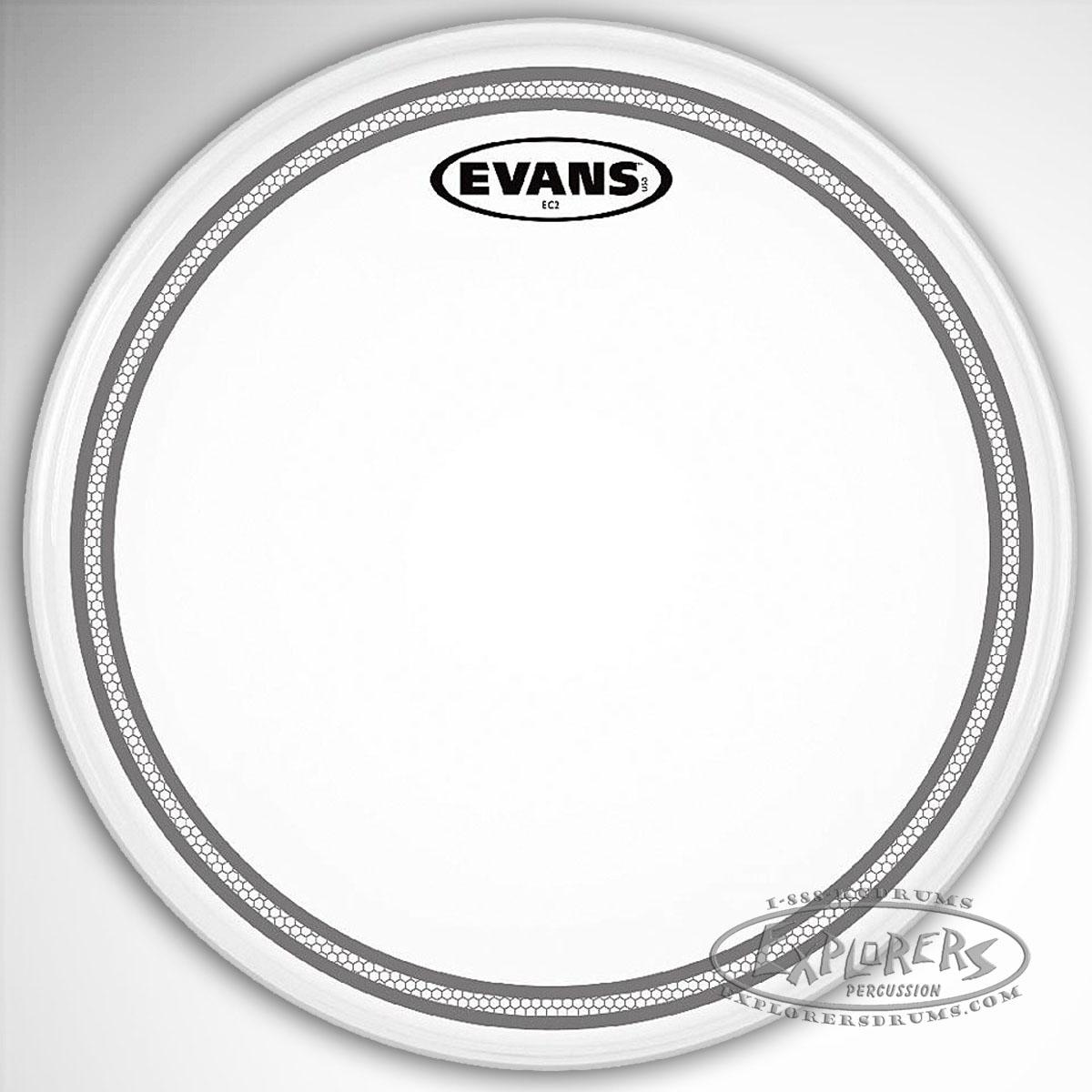 evans ec2 frosted 2 ply batter drum head. Black Bedroom Furniture Sets. Home Design Ideas