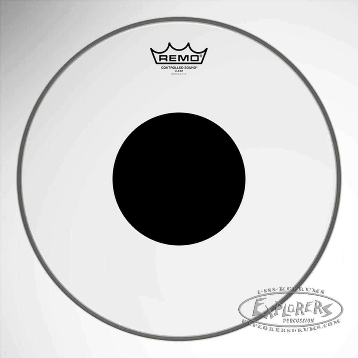 remo controlled sound clear tom snare batter drum head w top black dot. Black Bedroom Furniture Sets. Home Design Ideas