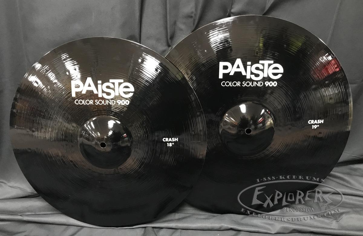 paiste 900 series colorsound 18 19 crash cymbal set black. Black Bedroom Furniture Sets. Home Design Ideas