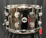DW Snare Drum Collector's Series 8x14 Black Nickel Over Brass Shell w/ Chrome Hardware