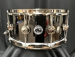 DW Collectors Series Snare Drum 6.5x14 Black Nickel over Brass Shell - Nickel Hardware