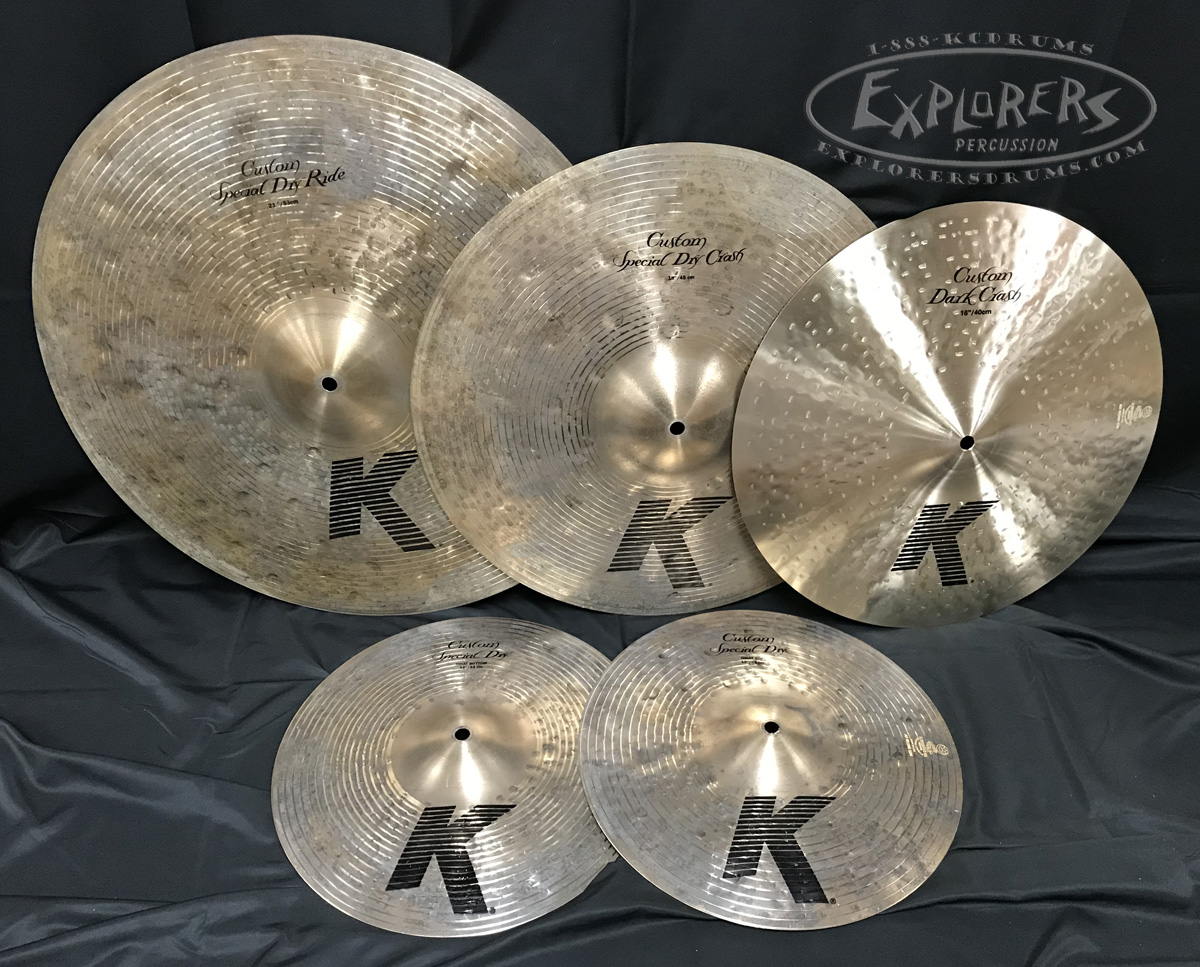 Pasic Cymbal New Other - Zildjian K Custom Special Dry & Dark Cymbal Pack -  13, 16, 18, 21