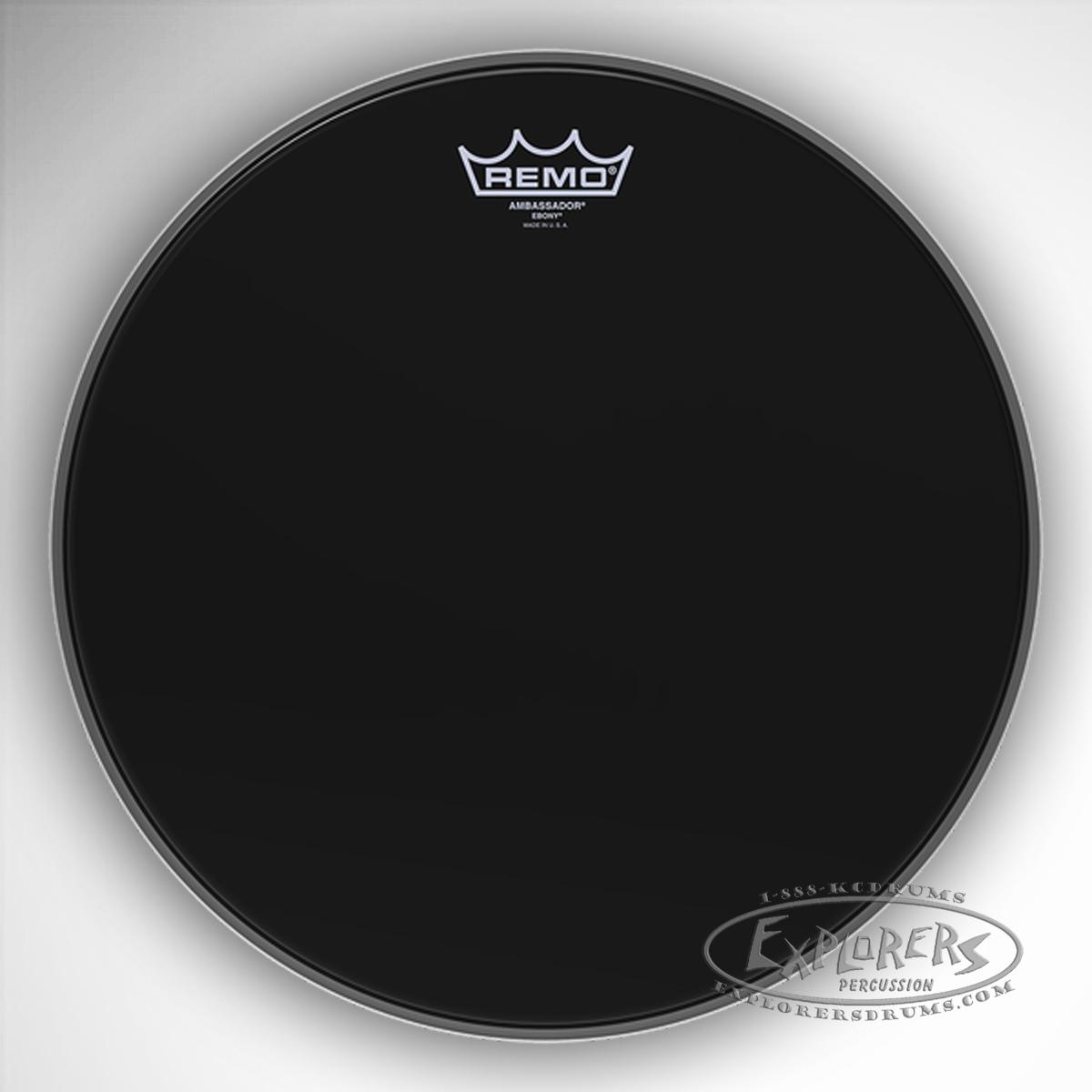 remo ambassador ebony batter resonant bass drum head. Black Bedroom Furniture Sets. Home Design Ideas