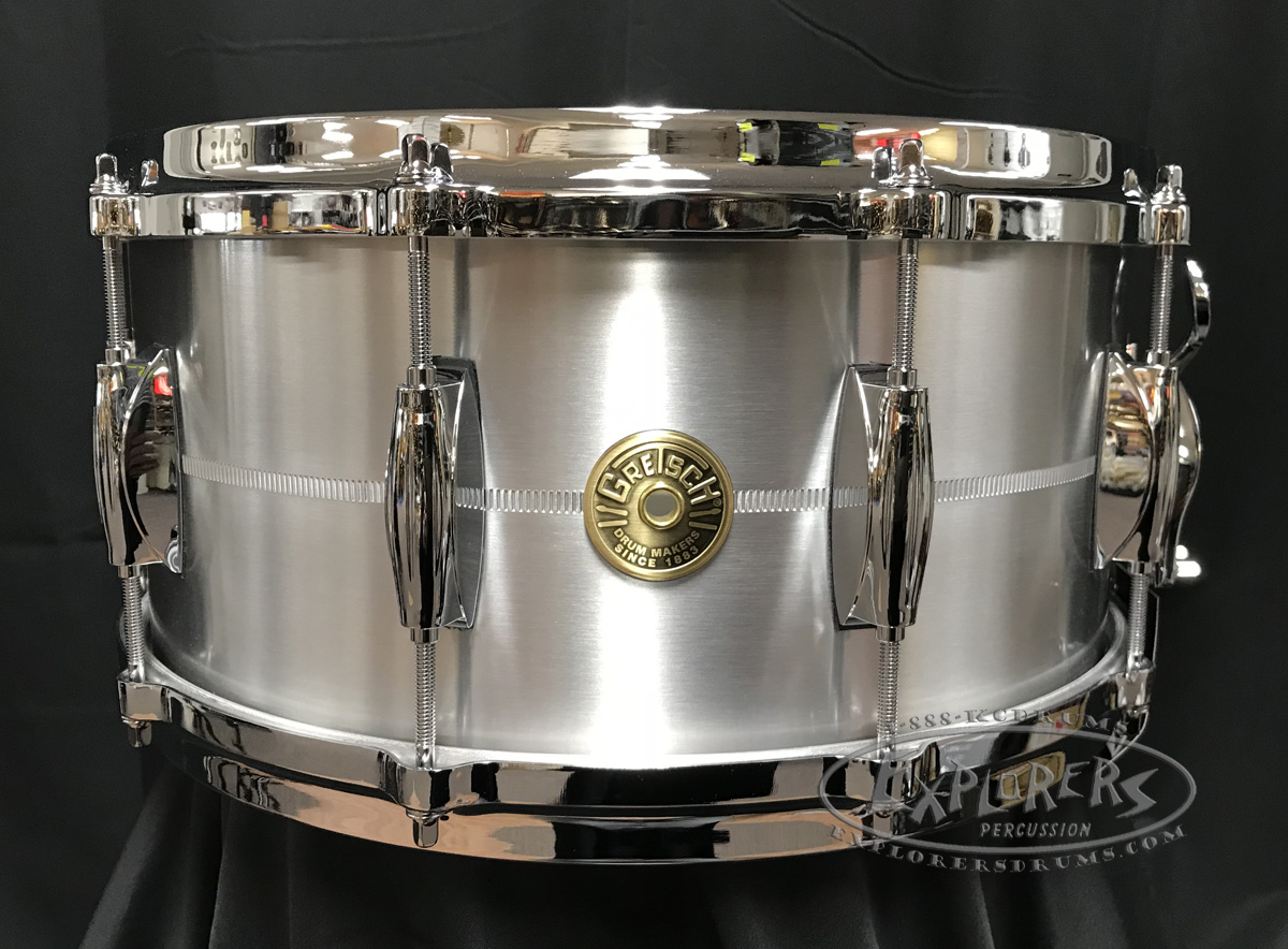 Gretsch Snare Drum USA 6.5x14 Solid Aluminum Shell