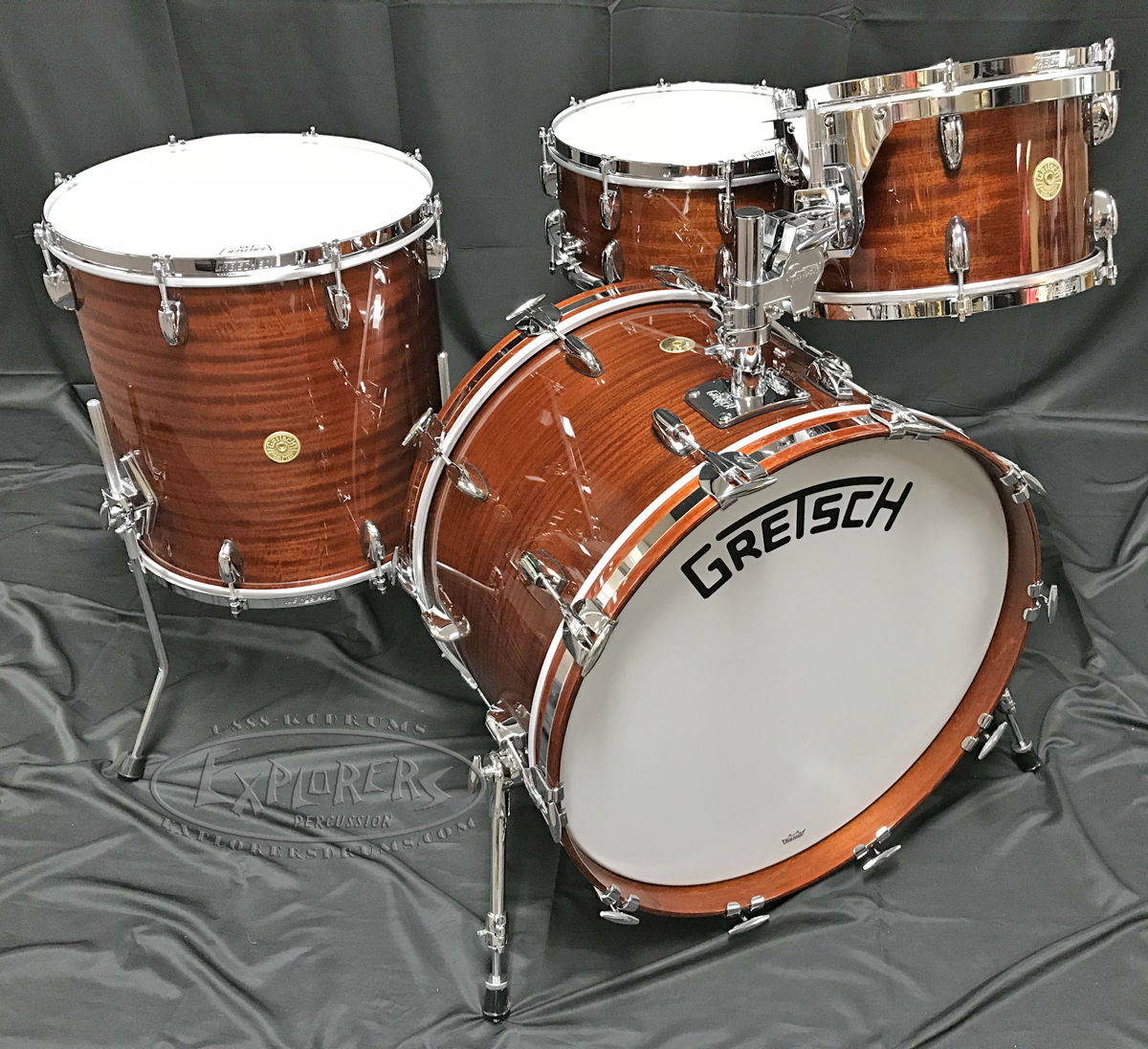 gretsch drum set broadkaster 135th anniversary 4 piece shell pack in classic mahogany. Black Bedroom Furniture Sets. Home Design Ideas