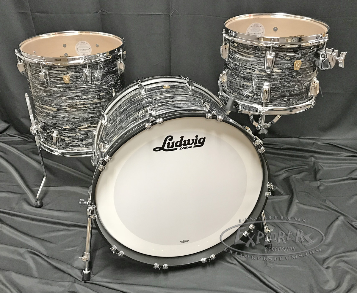 Ludwig Club Date 24 Shell Pack, Silver Mist.