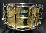 Ludwig Snare Drum 6.5x14 Hammered Brass Shell w/ Tube Lugs - B Stock